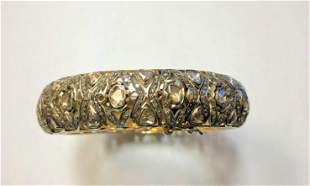 925 Ladies Sterling Silver Diamond Slither Bangle