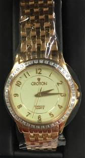 Croton Ladies Two Tone Gold Plated Stainless Steel