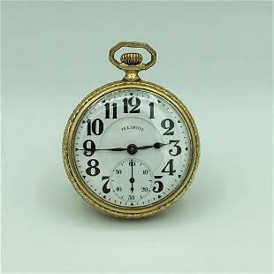 1922 Illinois Aristocrat Open Face Pocket Watch 17