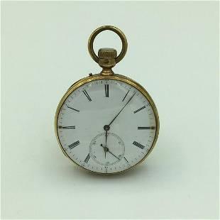 Louis Raby Paris 18K Gold Open Face Pocket Watch No.
