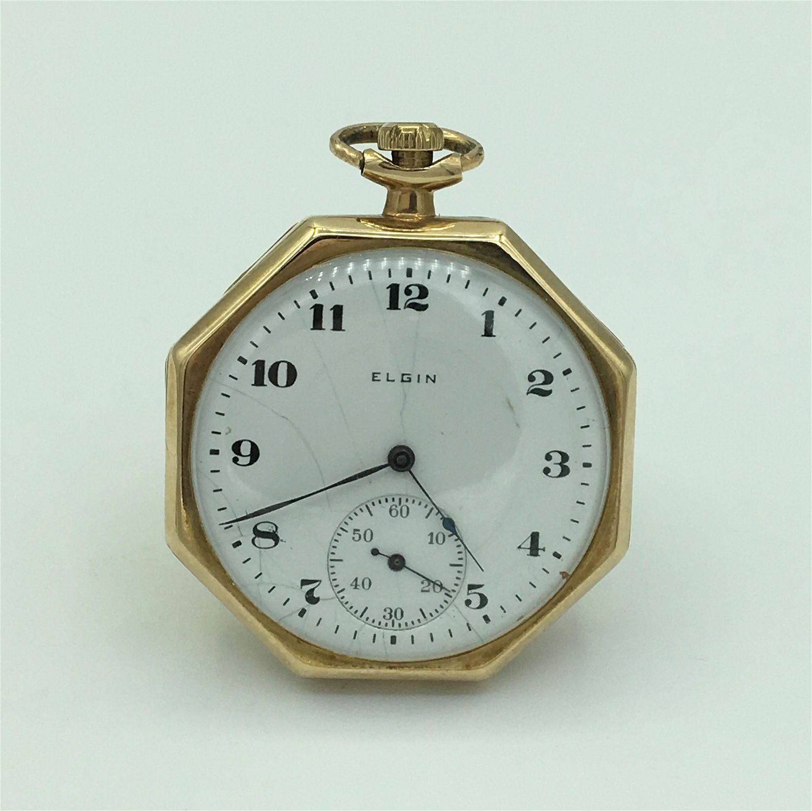 Elgin 17 Jewel 14K Yellow Gold Open Face Pocket Watch