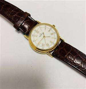 Vintage Movado Watch w/ Roman numeral Dial & leather