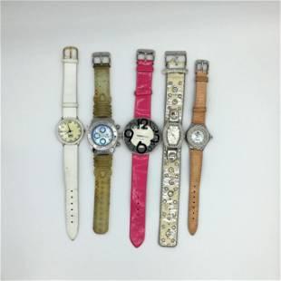 Group of Five Vintage Ladies Fashion Wristwatches