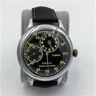 Vintage Eterna Regulateur Mens Wrist Watch Serial