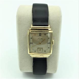 Lord Elgin 14K Yellow Gold 21 Jewel Wrist Watch #