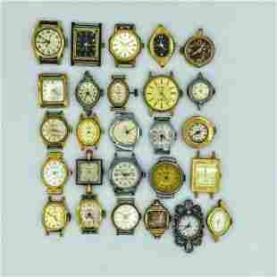 Lot of 26 Vintage Ladies Quartz & Hand Wind Wrist