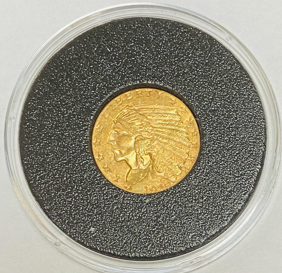 1929 $2.5 Indian Head Gold Quarter Eagle BU