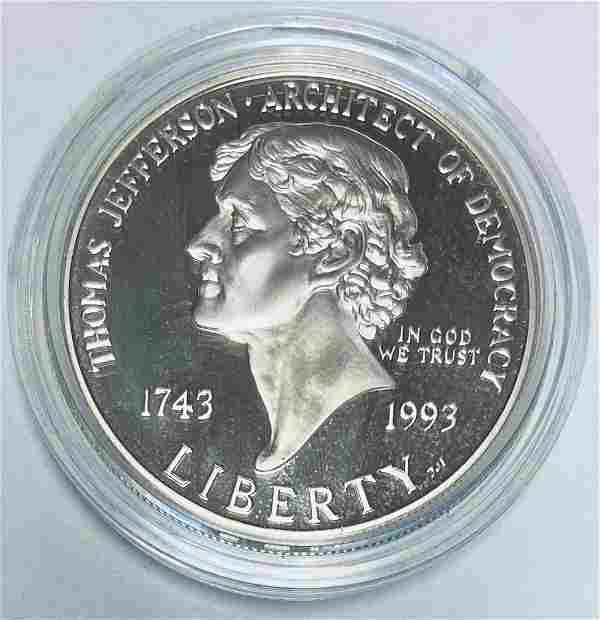 1993-S $1 Thomas Jefferson Commemorative Silver Dollar