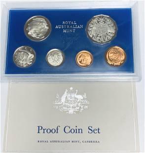 1975 Australia Proof Set of 6 coins Royal Australian