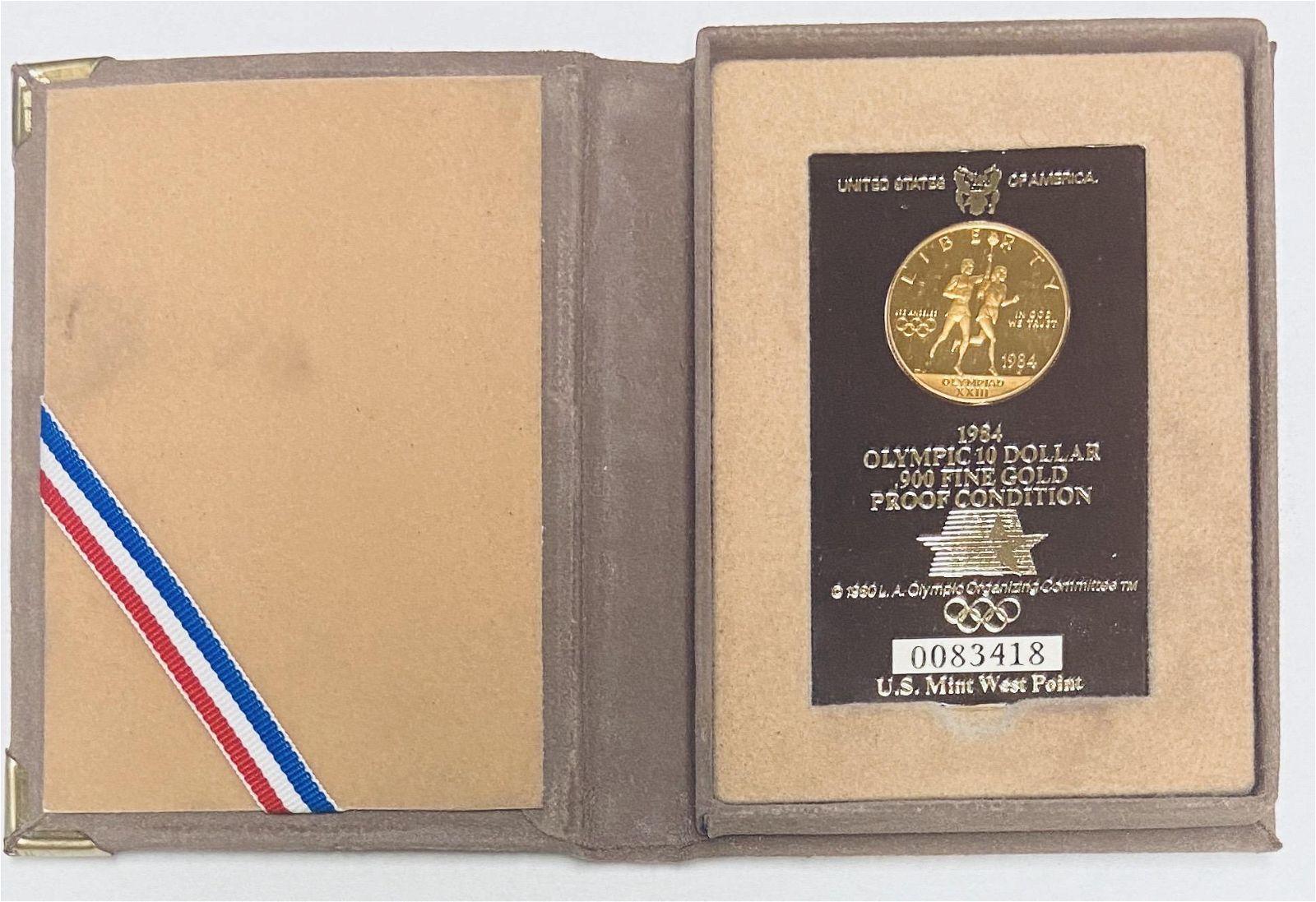 1984-W $10 Olympics Torch Bearers Modern Gold