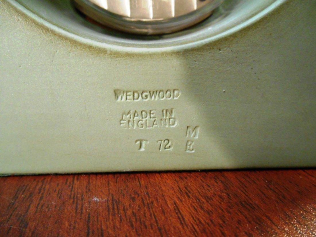 EARLY WEDGEWOOD GREEN JASPERWARE CLOCK - 4
