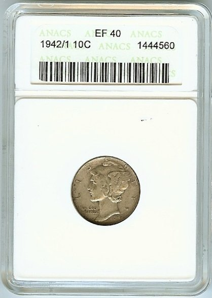 U.S. SIVER BARBER DIME 1942/1 EF40 CONDITION