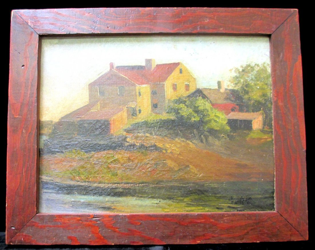 "EDWARD HOPPER ""HOUSE ON THE SEINE"" OIL ON BOARD"