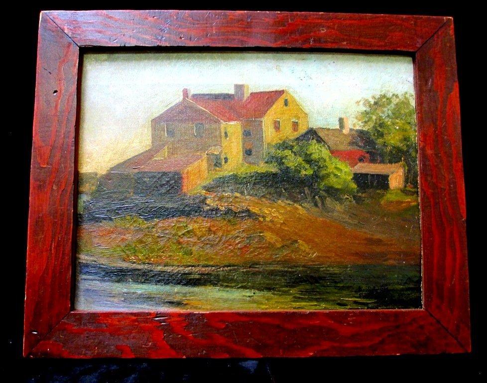 "EDWARD HOPPER ""HOUSE ON THE SEINE"" OIL ON BOARD - 2"