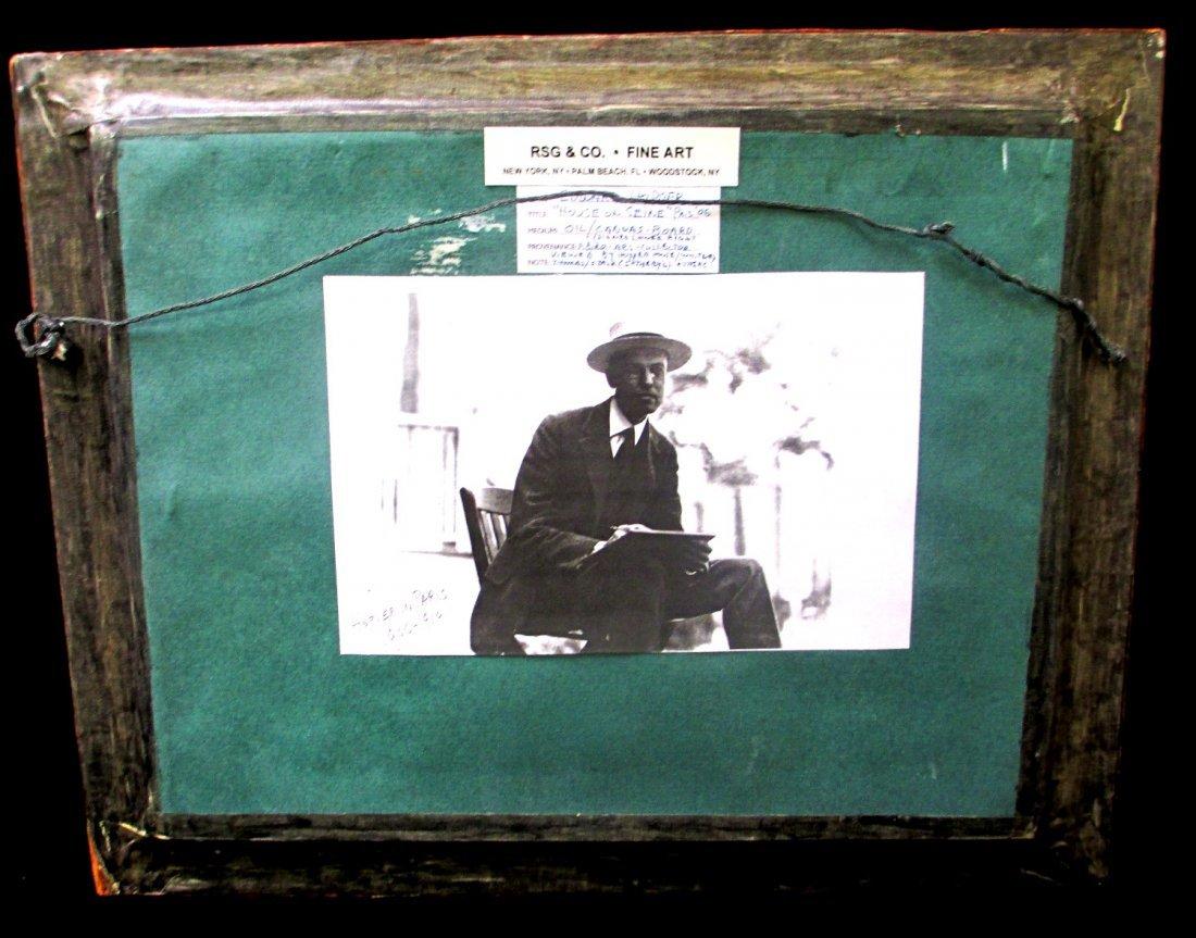 "EDWARD HOPPER ""HOUSE ON THE SEINE"" OIL ON BOARD - 5"