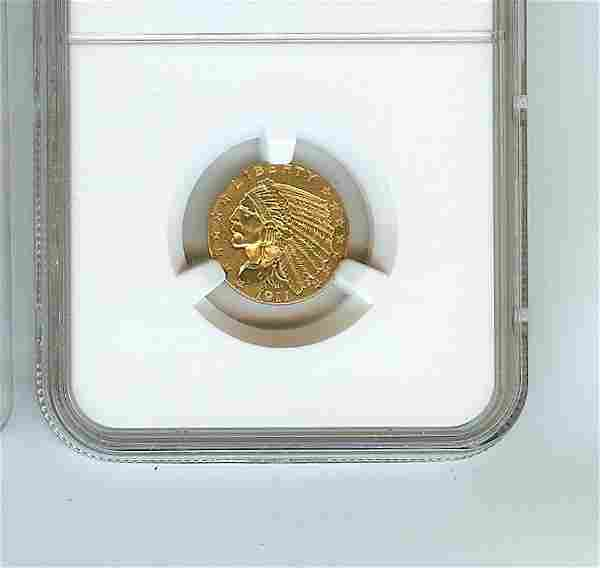 1911 U.S. $2.50 INDIAN HEAD GOLD COIN UNCIRCULATED