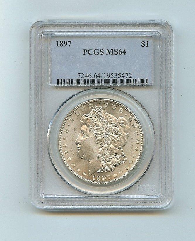 1897 Morgan Silver Dollar PCGS MS64