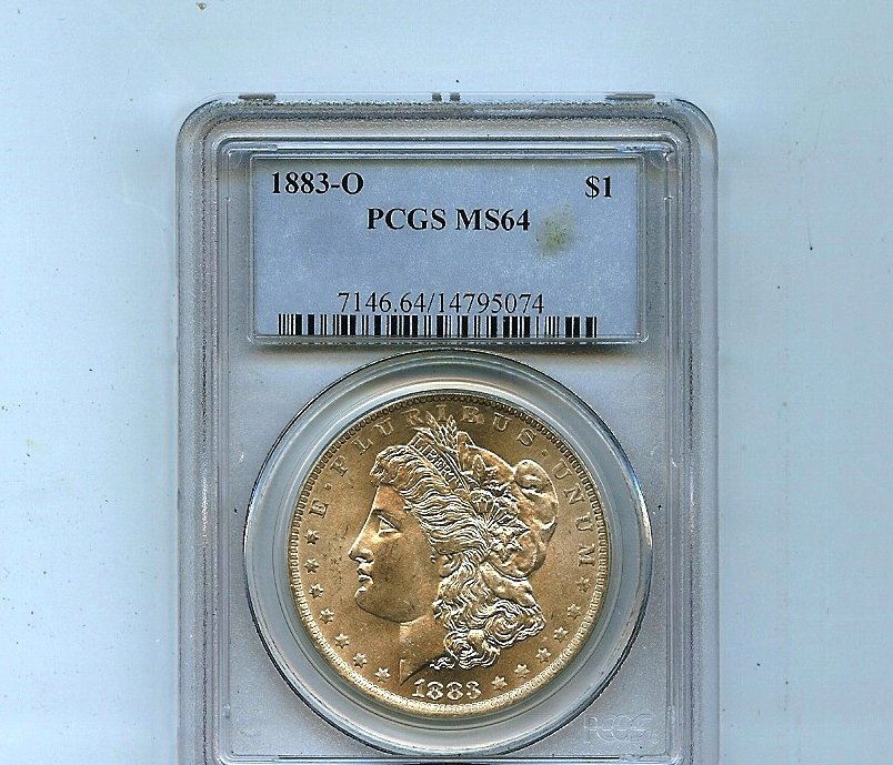 1883-0 Morgan Silver Dollar PCGS MS64