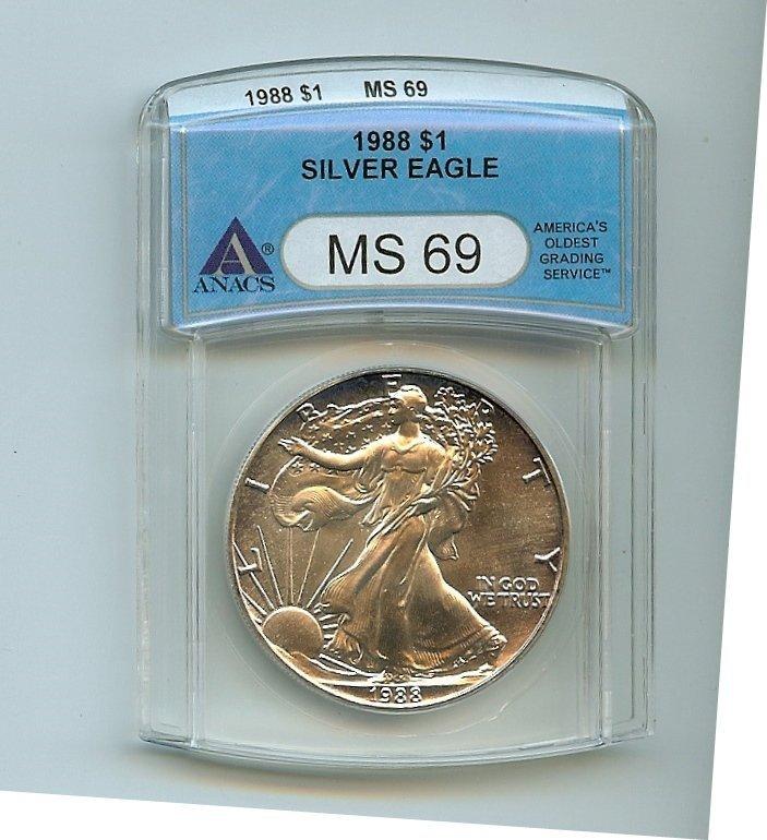 ANACS 1988 MS69 Silver Eagle