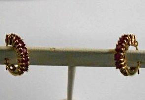 Pair of Ruby Ear Rings 10k gold