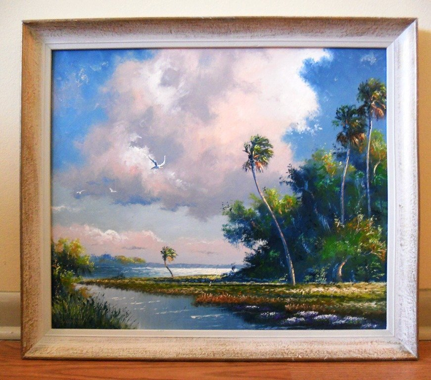 EARLY HIGHWAYMEN PAINTING BY SAM NEWTON 23 X 27