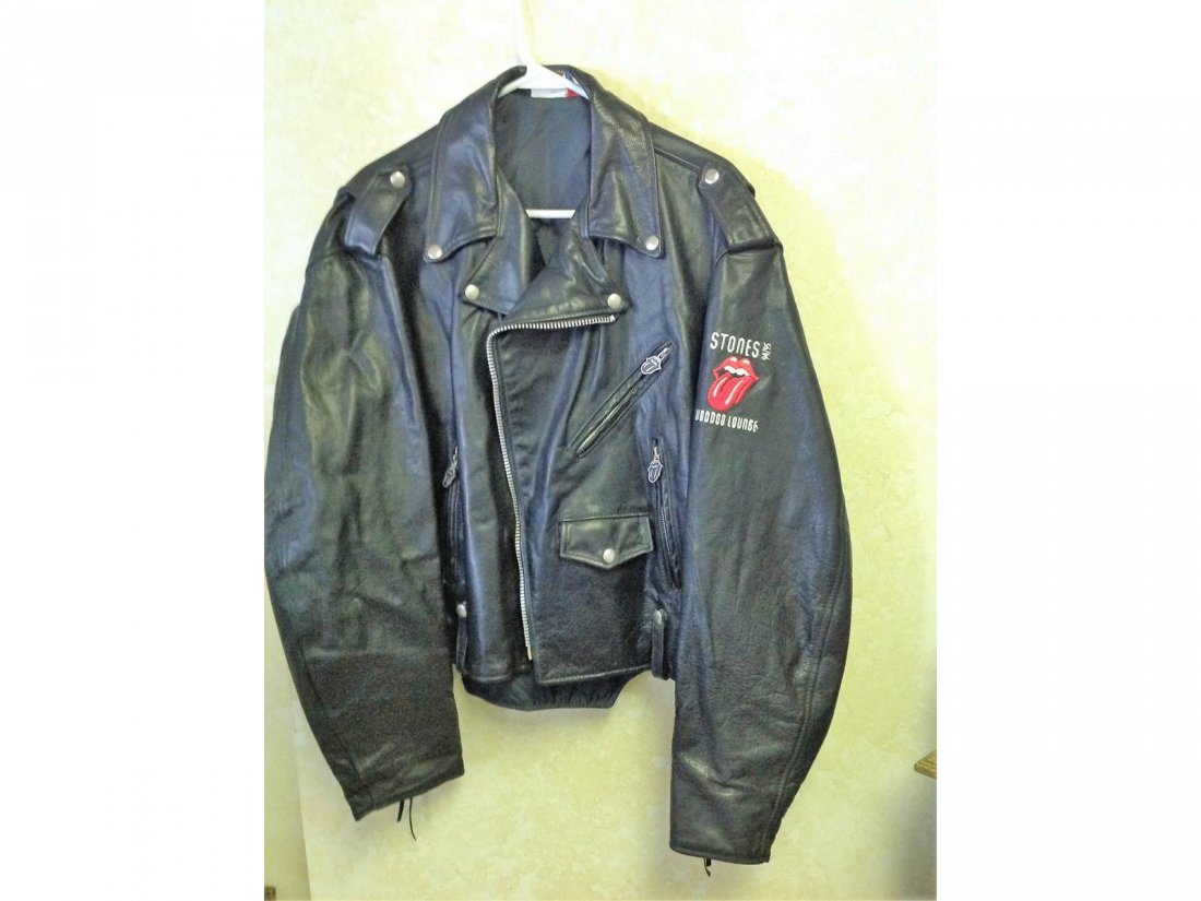 Fine Rolling Stones Voodoo Lounge XL Leather Jacket