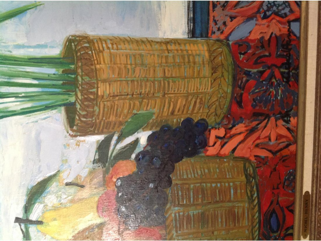 MICHEL HENRY, 'Corbeille De Fruits,' Oil on Board. Sgd. - 2