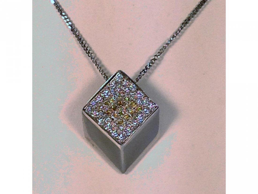 18KT '750' WG Diamond Drop W/ 50-55 diamonds & 18kt