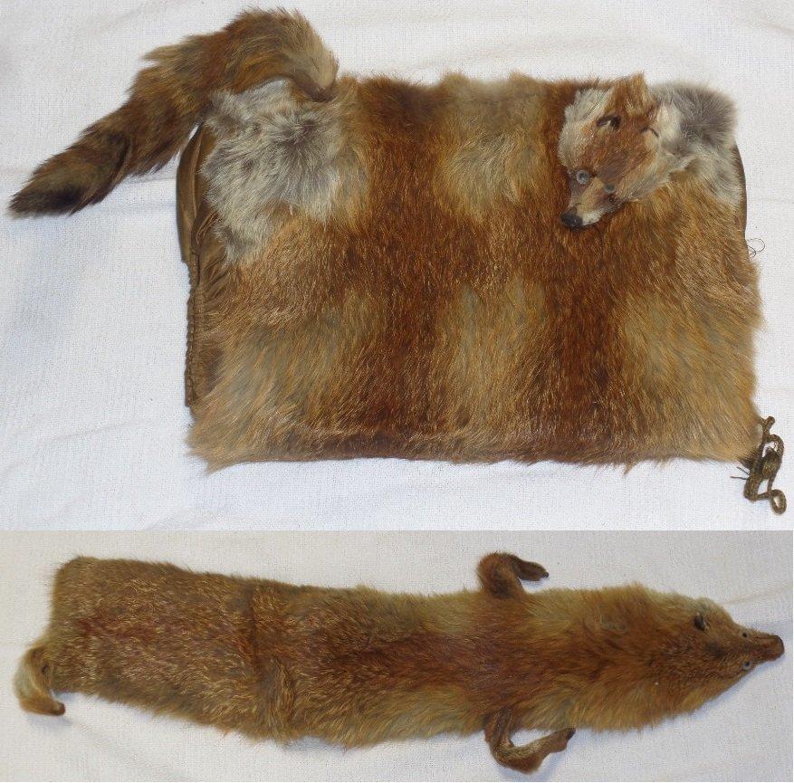 1920's-1930's Fox Fur Muff & Fox Fur Collar