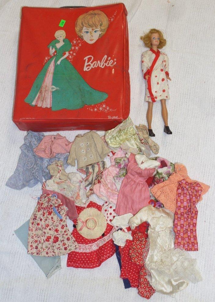 1958 Midge Doll with 1963 Case & Vintage Clothes