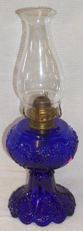Queen Anne No.2 Cobalt Blue Oil Lamp