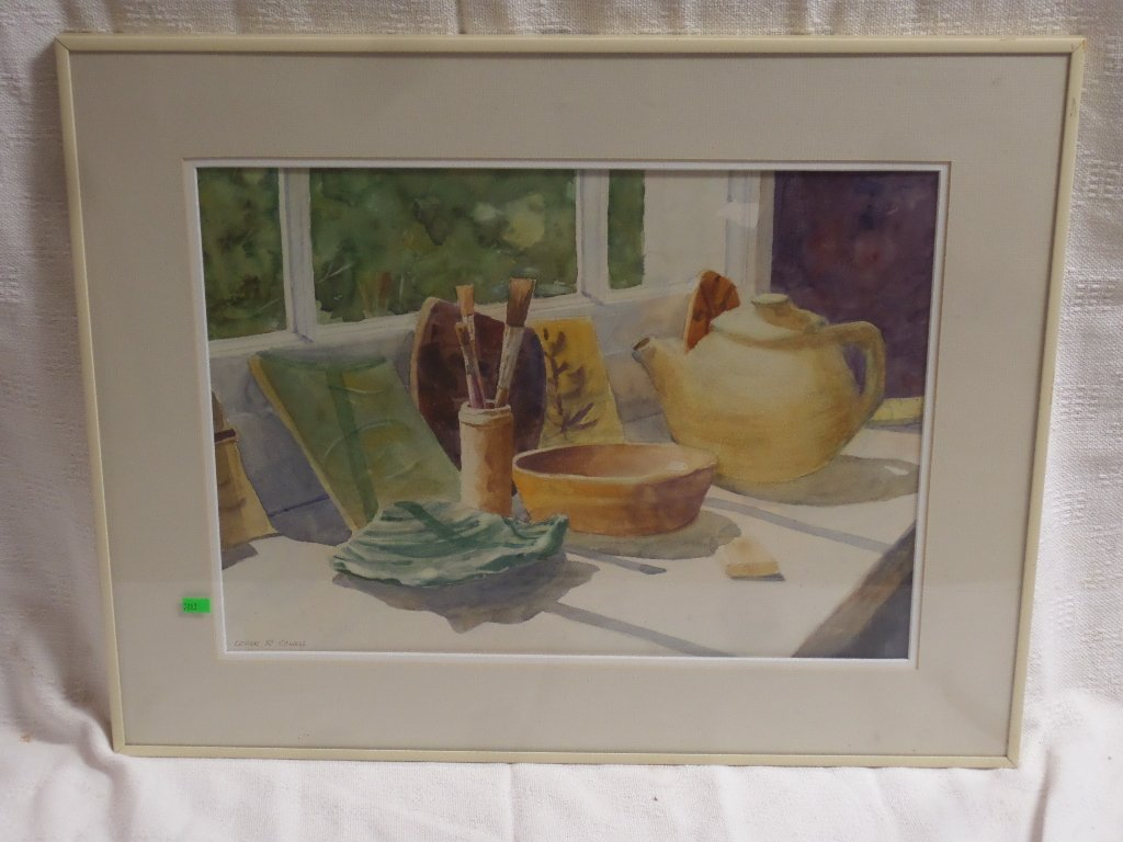 Still Life Water Color by Lester R Cowell