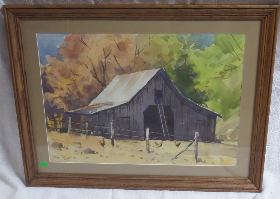 Watercolor by Ernest W Spring