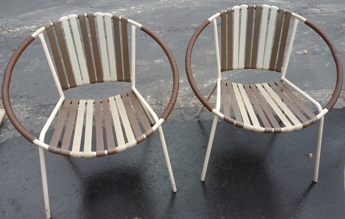 2 Retro Outdoor Patio Chairs