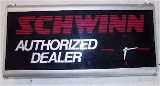 Schwinn Authorized Dealer Lighted Advertising Clock