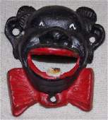 Black Memorabilia Clown Face Bottle Opener