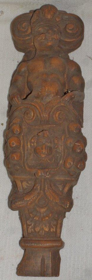 Marko Wood Carved Ship Fragment