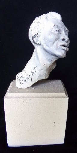 Ed Dwight African American Statue Cast Metal