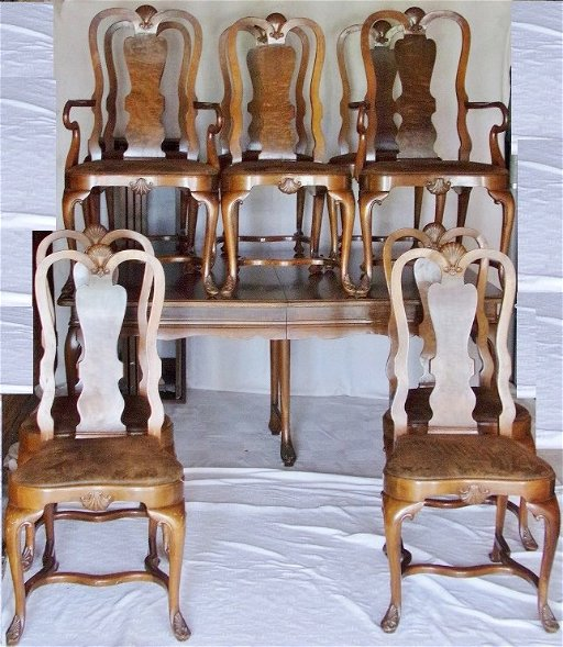 Rockford Republic Furniture Dining Table With 10 Chairs