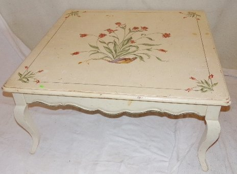 Painted coffee table by betty rumpf hand painted coffee table by betty rumpf geotapseo Image collections