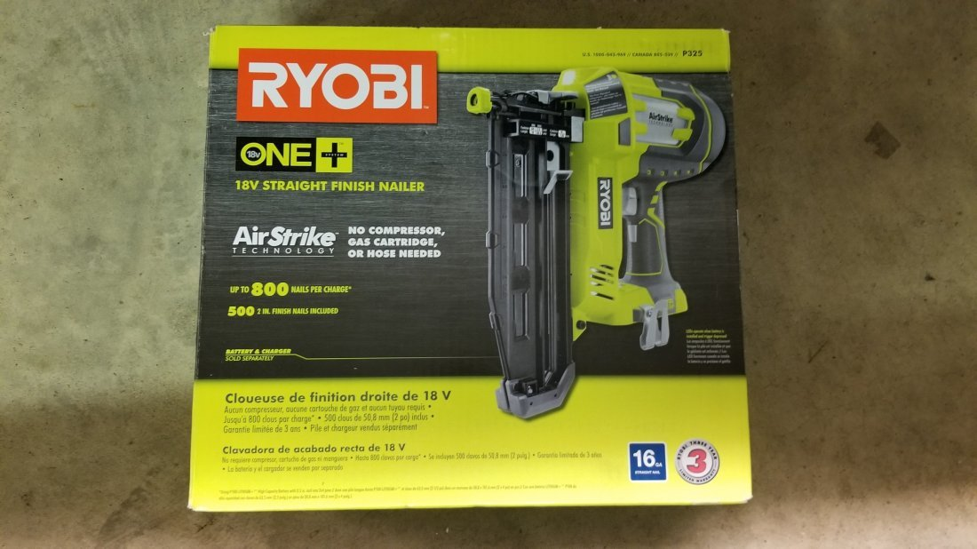 New Ryobi 18V Straight Finish Nailer