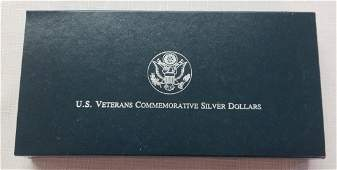 1994 US Veterans Commemorative Silver Dollars