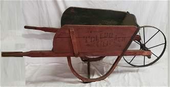 1882 Toledo Clipper Stenciled Wood Wagon