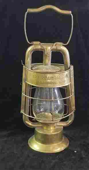 """Dietz """"The Seagrave Co."""" Brass Lantern"""
