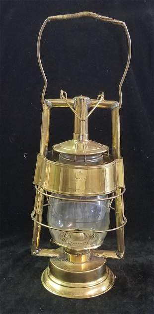 Fitzall L.F.D. (Globe Marked 4-H Loc-Nob) Brass Lantern