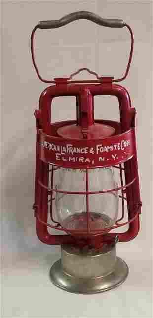 "Dietz ""American La France Fire Engine Co."" Red Lantern"