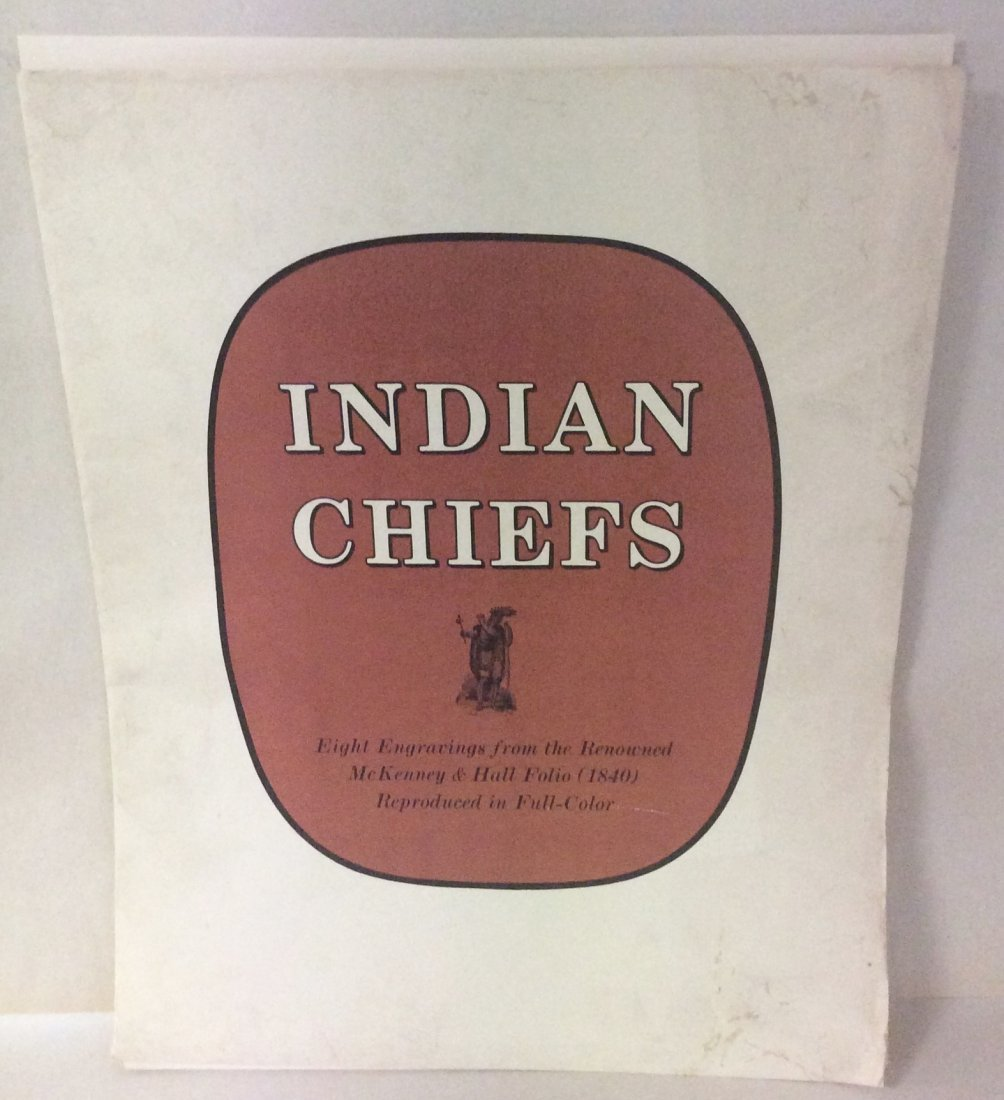 8 McKenney & Hall Indian Chief Engravings