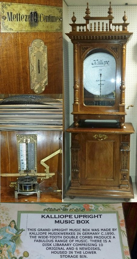 1890's 8' 2'' German Kalliope Upright Music Box with 16