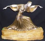 D.H. Chiparus Bronze & Marble Sculpture