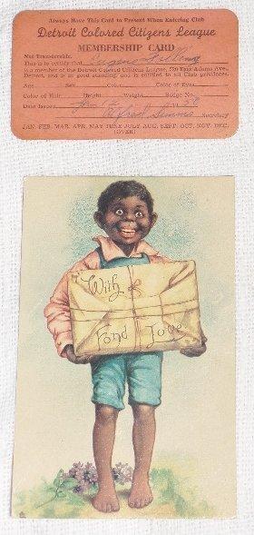 Black Americana Post & Citizens League Cards
